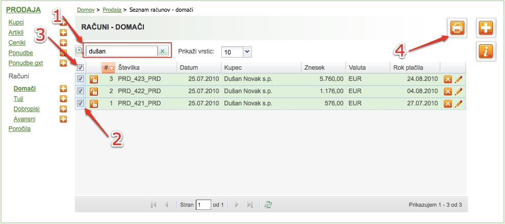 Poslovni program za izdajo računov MetaKocka